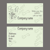 Vector business card for veterinary clinic or pet shop Royalty Free Stock Photos