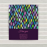 Vector business card with watercolor texture. Invitations or ann. Ouncements. Watercolor seamless pattern is complete, endless modern background abstract royalty free illustration