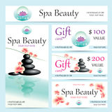 Vector Business Cards And Poster For Spa Salon Royalty Free Stock Photos