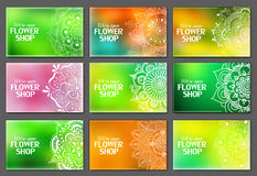 Vector business cards for flower shop Stock Photo