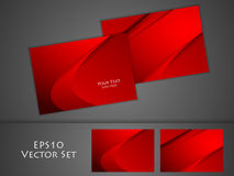 Vector business cards set Stock Images