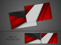 Vector business cards set Royalty Free Stock Photography