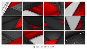 Vector business cards set Stock Photography