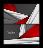Vector business cards Stock Photos