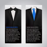 Vector business cards with suit and tuxedo. Stock Photo