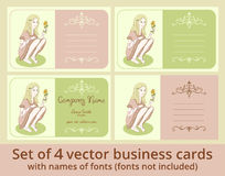 Vector business cards template set Stock Images
