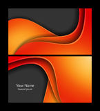 Vector business cards Stock Photography