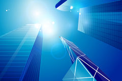 Vector business center | skyscrapers background Stock Image