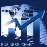 Vector business chart,  Stock Photo