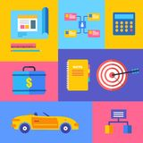 Vector business collection of flat and colorful Royalty Free Stock Photos