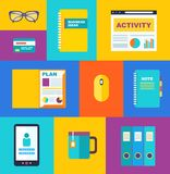 Vector business collection of flat and colorful Royalty Free Stock Image