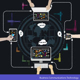 Vector Business Communications Technology Royalty Free Stock Images