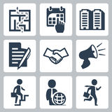 Vector business concept icons Stock Images