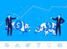 Vector business concept  illustration. Businessman confrontation Royalty Free Stock Image