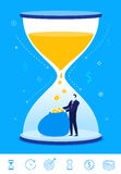 Vector business concept  illustration. Time is money. Stock Photography