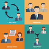 Vector business concepts in flat style Stock Photo