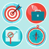 Vector business concepts in flat style Royalty Free Stock Photography