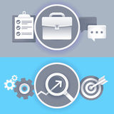 Vector business concepts in flat style Royalty Free Stock Photo