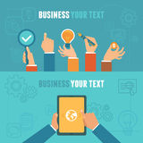 Vector business concepts in flat style Stock Photos