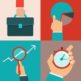 Vector business concepts in flat style Royalty Free Stock Photos