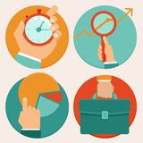 Vector business concepts in flat style Royalty Free Stock Image