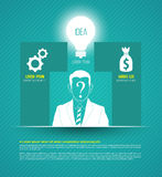 Vector business concepts with icons. Stock Photography