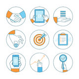 Vector business concepts and icons Stock Image