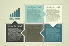 Vector business design template Stock Photography