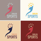 Vector business emblem fire water icon. Sports emblem. vector business emblem torch fire. icon logo set Royalty Free Stock Photos