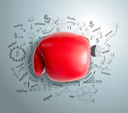 Vector business fighting idea concept Stock Images