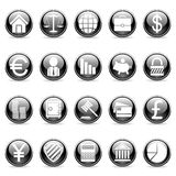 Vector business and finance buttons. Set of 20 business and finance buttons Royalty Free Stock Image
