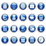Vector business and finance buttons. Set of 20 business and finance buttons Stock Photography
