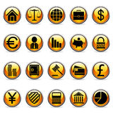 Vector business and finance buttons. Set of 20 business and finance buttons Royalty Free Stock Photos