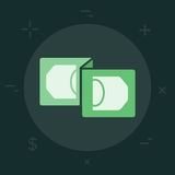 Vector Business or Finance Category Flat Minimal Style Colorful. Icon Stock Images