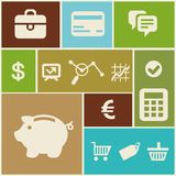 Vector business and finance icons Stock Image