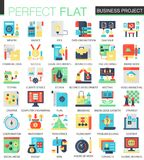 Vector Business finance project complex flat icon concept. Web infographic design icons. Vector Business finance project complex flat icon concept. Web Stock Photo