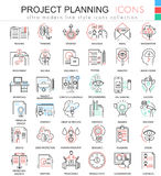 Vector business finance project planning ultra modern color outline line icons for apps and web design. Stock Photo