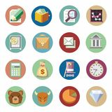 Business financial icons set. Flat design. Vector business financial icons set. Flat design Royalty Free Stock Images
