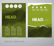 Vector Business Flyer Royalty Free Stock Photos