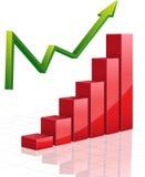 Vector business Graph with arrow. Vector business Graph with green arrow Stock Photography