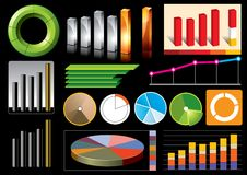 Vector business graphs Royalty Free Stock Image