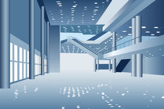 Vector business hall stock photography