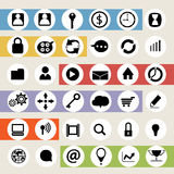 Vector business icon with communication Royalty Free Stock Photography