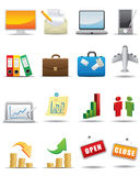 Vector business icon set Stock Photo