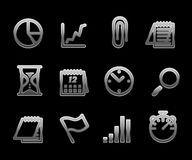 Vector Business Icon Set Royalty Free Stock Photo
