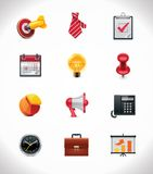 Vector business icon set. Set of the detailed business related icons Stock Images