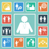 Vector of Business icon set Royalty Free Stock Images
