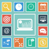 Vector of Business icon set Stock Image
