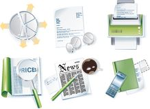 Vector business icon set. Part 1 Stock Photography