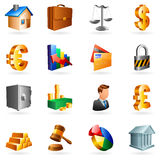 Vector business icons. Set of 16 vector business and office icons Royalty Free Stock Image